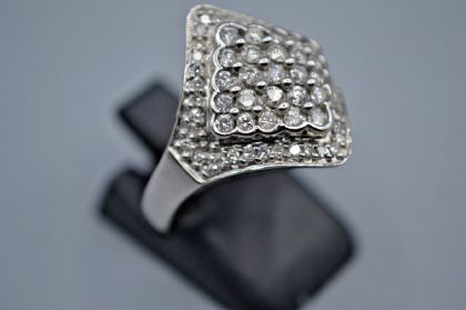 9 ct  White Gold Fancy Diamond  Ring